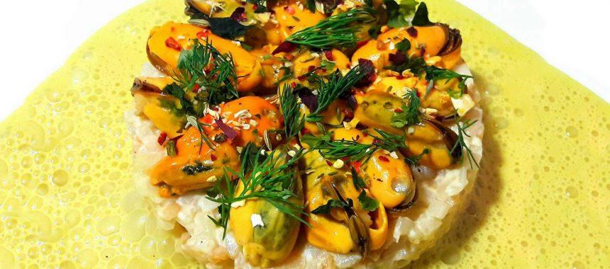 Célérisotto de moules au curry