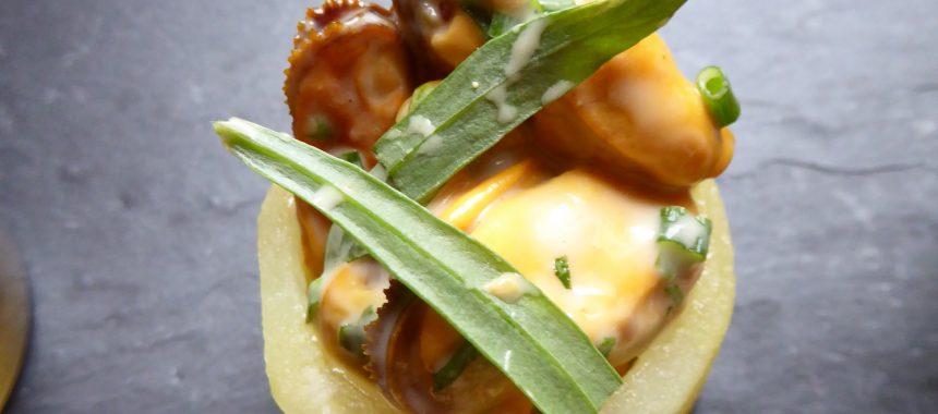 Salade de pomme de terre moules sauce estragon