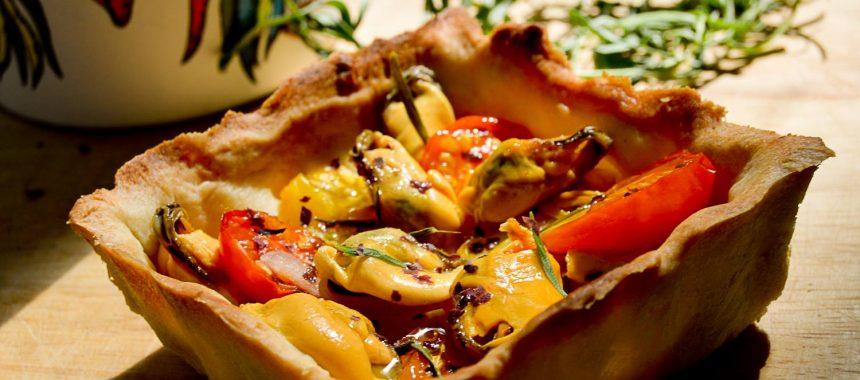 Tartelettes aux moules et tomates cerise